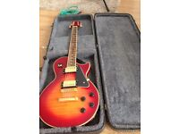 Jay Turser Electric Guitar Vintage Sunburst Les Paul with HARD CASE and extras