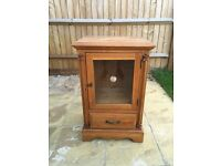 Side table solid pine wooden - display cabinet - stereo unit