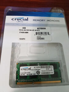 Crucial 4GB DDR3 1600MHz Laptop Memory for Mac
