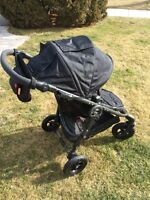 Versa stroller with GT wheel kit and accessories