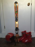 Youth Skis, boots, & helmet