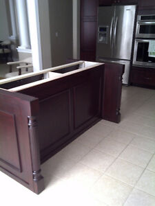 Kitchen Island with side  wine rack