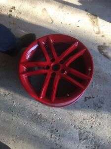 """4 19"""" 5x115 red wheels with sensors"""