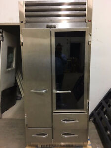 Commercial Traulsen Stainless Refrigerator /Freezer . ice maker