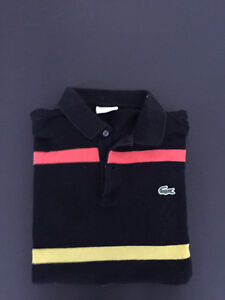 Lacoste striped long sleeve polo