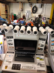 Samsung WISENET 8 Channel DVR 8 Cameras Security System