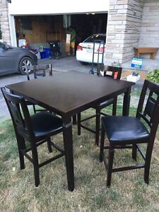 Pub Bistro Style Table With Four Chairs
