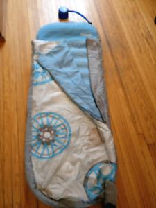 kid air bed and sleeping bag