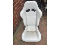 bucket seat leather