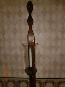 WOODEN WALL HUNG CANDLE HOLDER