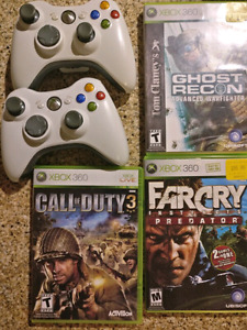 Xbox 360 controllers and games