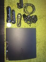 PS3 + 26 jeux + PS move + headset...