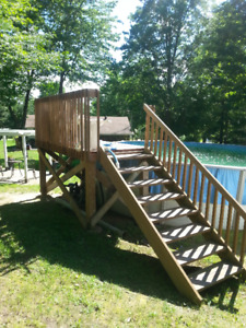 Pool with decking & shed. (High quality good condition)