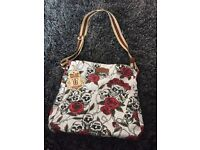 Skull and roses bag and purse/wallet