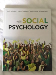 Social Psychology (5th Canadian Edition) Textbook for Sale!