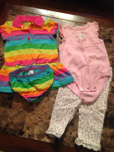 2 Carters 2 pc outfits Size 9 months
