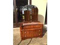 Retro vintage dressing table with mirror