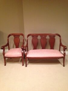 Antique Settee and Chair