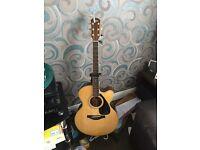 Yamaha LJX6C semi acoustic solid guitar