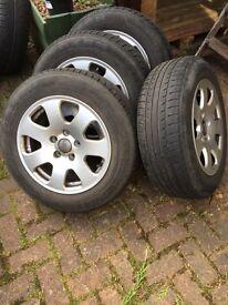 VW Audi Alloy Wheels and Tyres x4
