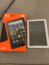Amazon Fire HD 8 White 32GB, boxed like New latest Version