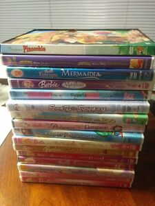 17 Children's DVDs - Barbie etc...- English & French