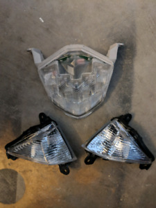 09 zx6r OEM tail light and side markers