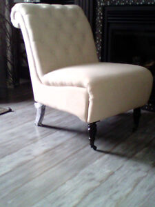 Chairs never sat on