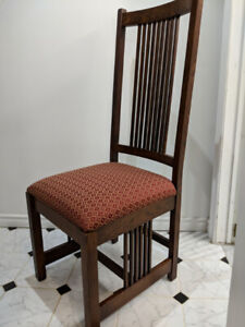 Just reduced! Mission Upholstered Dining Chair (4)