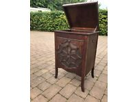 Old gramophone cabinet