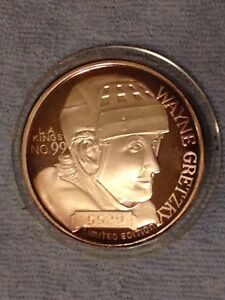 """Wayne Gretzky 999 pure silver limited edition """"1851 goals"""" coin"""