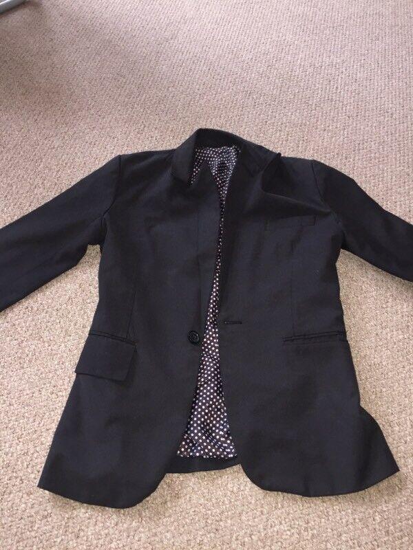 Men's 2 piece black suit