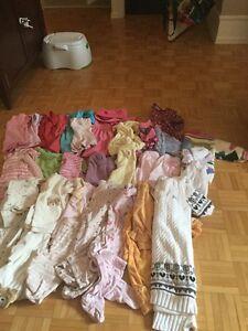 Lot vêtements bébé fille 3 à 18 mois