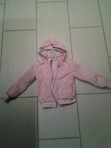 Manteau printemps fille LOGG avec capuchon amovible rose grandeu