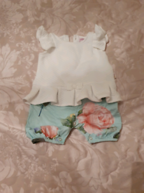 Baby girls Ted Baker romper size 3-6 months