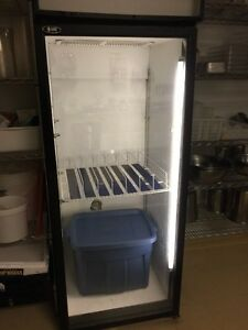 Glass door fridge qbd Stratford Kitchener Area image 1