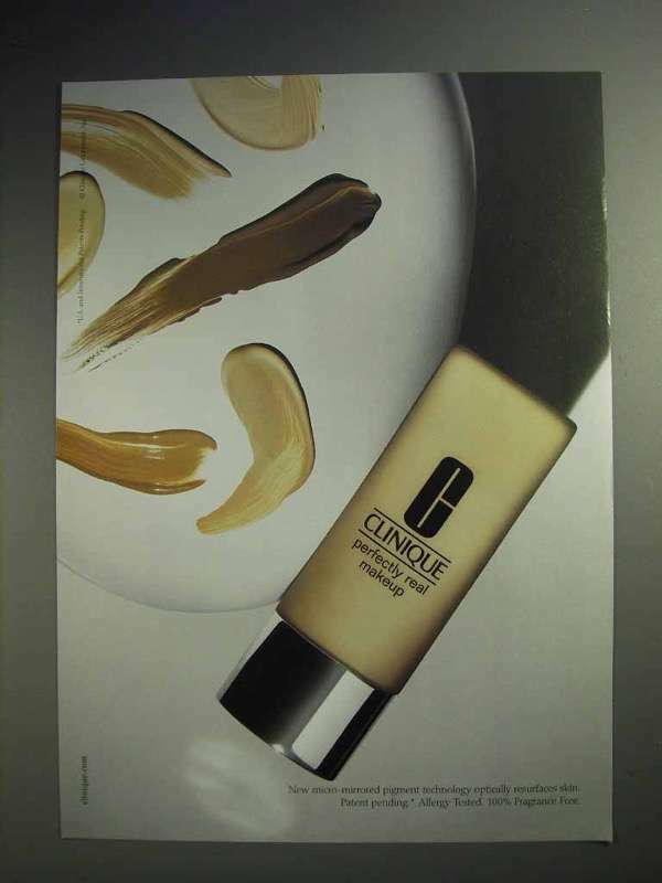2004 Clinique Perfectly Real Makeup Ad