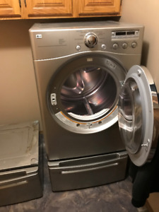 LG dryer and pedestals