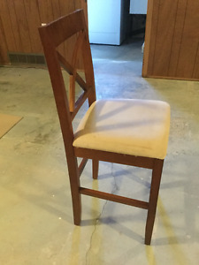 Counter / bar height stool with backrest