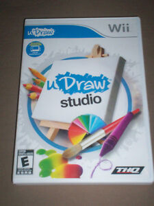 U DRAW STUDIO GAME & WRITING PAD LIKE NEW NINTENDO WII