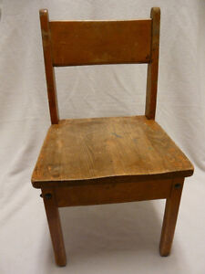 Vittage 1950s-60s Hard Wood School Chair