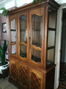 Real Wood China Cabinet