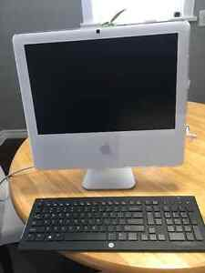 iMac computer, a1208, OSX and Windows 7, like new