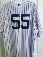 Ny Yankees Russel Martin game worn jersey with locker room plate