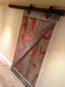 Barn doors made from authentic locally reclaimed barn wood
