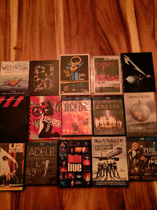 lot 15 Blu-Ray et DVD Concerts