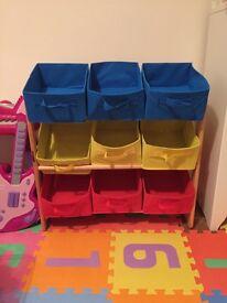 Kids basket shelf & organizer