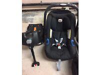 Britax car seat & isofix base