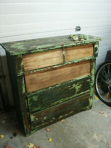 Large Rustic Antique Dresser Project