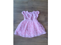 Mothercare Pink Rose Dress 12-18 Months Girl